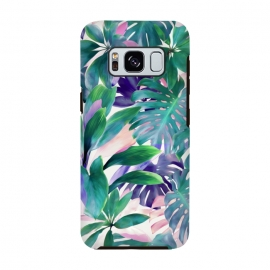 Galaxy S8  Pastel Summer Tropical Jungle by Micklyn Le Feuvre