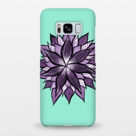 Galaxy S8+  Purple Mandala Like Ink Drawn Abstract Flower by Boriana Giormova