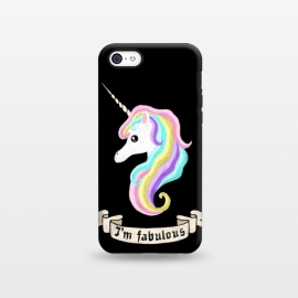 iPhone 5C  Fabulous unicorn by Laura Nagel