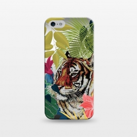 iPhone 5/5E/5s  Tiger in flowers by Kashmira Baheti