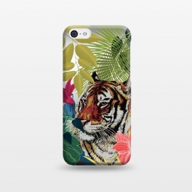 iPhone 5C  Tiger in flowers by Kashmira Baheti
