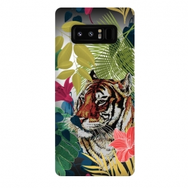 Galaxy Note 8  Tiger in flowers by Kashmira Baheti
