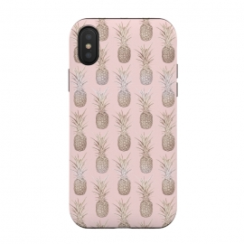 Golden and blush pineapples pattern by InovArts