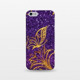 iPhone 5/5E/5s  Butterfly in Glitter by