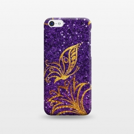 iPhone 5C  Butterfly in Glitter by Rossy Villarreal