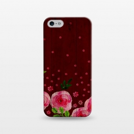 iPhone 5/5E/5s  Pink Wood by Rossy Villarreal