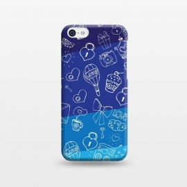 iPhone 5C  Vertical Blue by Rossy Villarreal