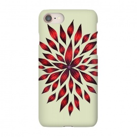 iPhone 8/7  Hand Drawn Abstract Red Ink Doodle Flower by Boriana Giormova