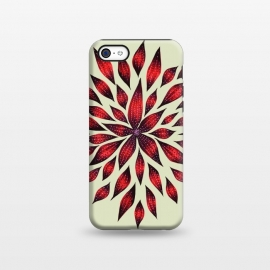 iPhone 5C  Hand Drawn Abstract Red Ink Doodle Flower by Boriana Giormova