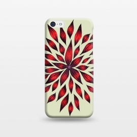 Hand Drawn Abstract Red Ink Doodle Flower by Boriana Giormova