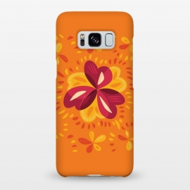 Galaxy S8+  Abstract Clovers In Pink Yellow And Orange by Boriana Giormova