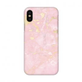 iPhone X  Metal Gold on Tender Pink Marble by Utart