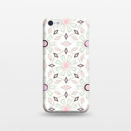 iPhone 5C  Modern gold Moroccan geometric flower marble image  by InovArts
