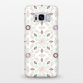 Galaxy S8+  Modern gold Moroccan geometric flower marble image  by InovArts
