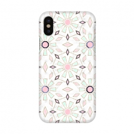 iPhone X  Modern gold Moroccan geometric flower marble image  by InovArts