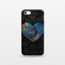 iPhone 5C  Galaxy heart by Jms