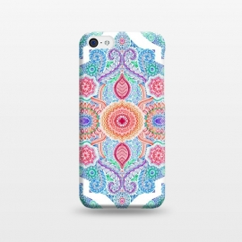 iPhone 5C  Ink and Symmetry in Rainbow Brights by Micklyn Le Feuvre (doodle,moroccan,patterns,rainbow,red,orange,green,white,blue,detailed,micklyn,radiant,linework,tangle,colorful)