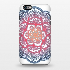 iPhone 6/6s plus  Radiant Medallion Doodle by Micklyn Le Feuvre (flower,floral,mandala,medallion,red white and blue,micklyn,doodle,pattern,dots,diamonds,radiant,gradiant,colorful)