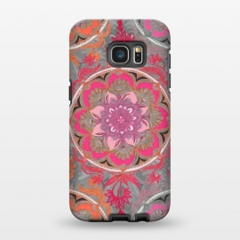 Galaxy S7 EDGE  Hot Pink, Magenta and Orange Super Boho Medallions by Micklyn Le Feuvre