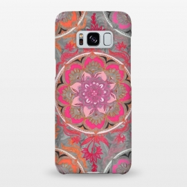 Galaxy S8+  Hot Pink, Magenta and Orange Super Boho Medallions by Micklyn Le Feuvre (boho,bohemian,painted,circle,micklyn,hot pink,magenta,orange,bright,colorful,medallion,mandala,patterns,doodle,floral,flower,circles)