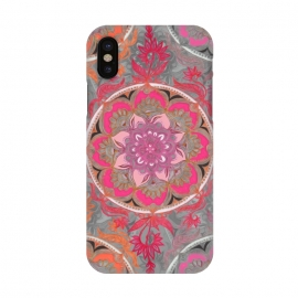 iPhone X  Hot Pink, Magenta and Orange Super Boho Medallions by Micklyn Le Feuvre