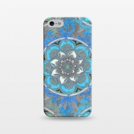 iPhone 5/5E/5s  Mint Green, Blue & Aqua Super Boho Medallions by Micklyn Le Feuvre