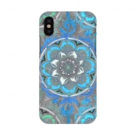 iPhone X  Mint Green, Blue & Aqua Super Boho Medallions by Micklyn Le Feuvre