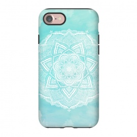 iPhone 8/7  Mandala flower turquoise by Jms