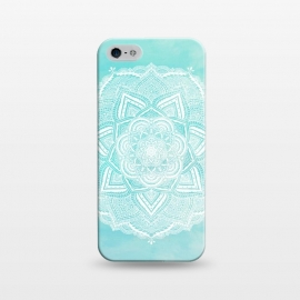iPhone 5/5E/5s  Mandala flower turquoise by Jms