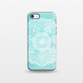iPhone 5C  Mandala flower turquoise by Jms