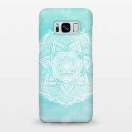 Galaxy S8+  Mandala flower turquoise by Jms