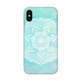 iPhone X  Mandala flower turquoise by Jms