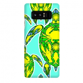 Galaxy Note 8  Sea Turtle Reef Marine Life Abstract Symbol Tattoo Style  by