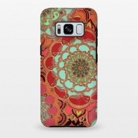 Galaxy S8 plus  Baroque Obsession by  (mandala,medallion,boho,bohemian,baroque,maroon,wine red,doodle,micklyn,circles,flower,floral,jade,green,magenta,decorative)