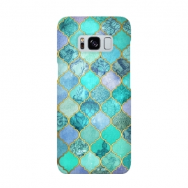 Cool Jade Icy Mint Decorative Moroccan Tile Pattern by Micklyn Le Feuvre