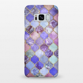 Galaxy S8+  Royal Purple, Mauve & Indigo Decorative Moroccan Tile Pattern by Micklyn Le Feuvre