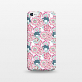 iPhone 5C  Tiny Elephants in Fields of Flowers by Micklyn Le Feuvre