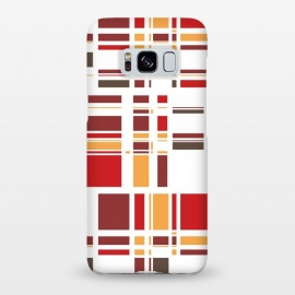 Galaxy S8+  Fourth Dimension Red Plaid by Majoih