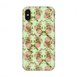 iPhone X  Vintage Rosy Floral by Quirk It Up