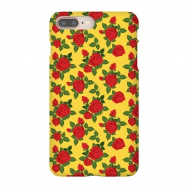iPhone 8/7 plus  Vintage Rosy Floral-Yellow by