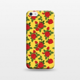 iPhone 5C  Vintage Rosy Floral-Yellow by Quirk It Up