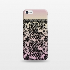 iPhone 5C  Black lace Purple Ombre by Quirk It Up