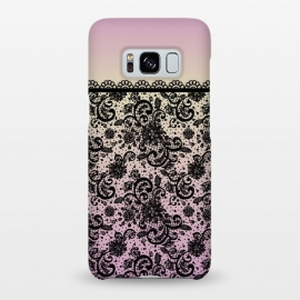 Galaxy S8+  Black lace Purple Ombre by Quirk It Up