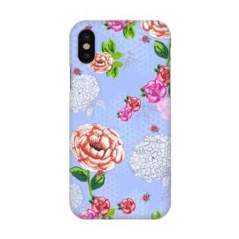 iPhone X  Bee Garden Blue by