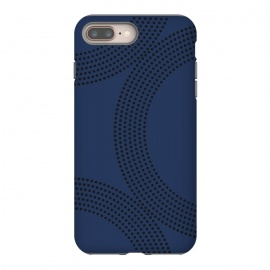 Dotted Circles Navy Blue by ArtPrInk