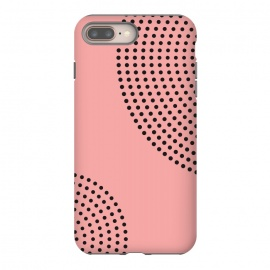 iPhone 8/7 plus  Dotted Circles Pink Peach by ArtPrInk