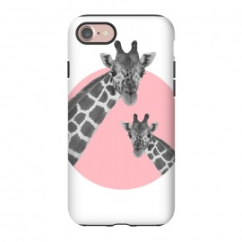 iPhone 8/7  Giraffe Love by MUKTA LATA BARUA (pink, animal, giraffe)