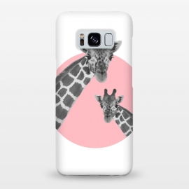 Giraffe Love by MUKTA LATA BARUA (pink, animal, giraffe)