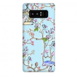 Galaxy Note 8  Victorian Garden 3 by  (garden, flowers, florals,pretty, beautiful,birds, cage)