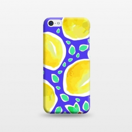 iPhone 5C  Lemon Crush Blue by MUKTA LATA BARUA (summer, fresh, fruit, food,lemon)